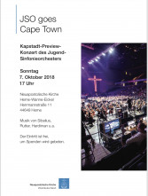 Preview Konzert -JSO goes Cape Town