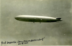 """Graf Zeppelin"" am 22. April 1930 über dem Siebengebirge - Landung in Hangelar"