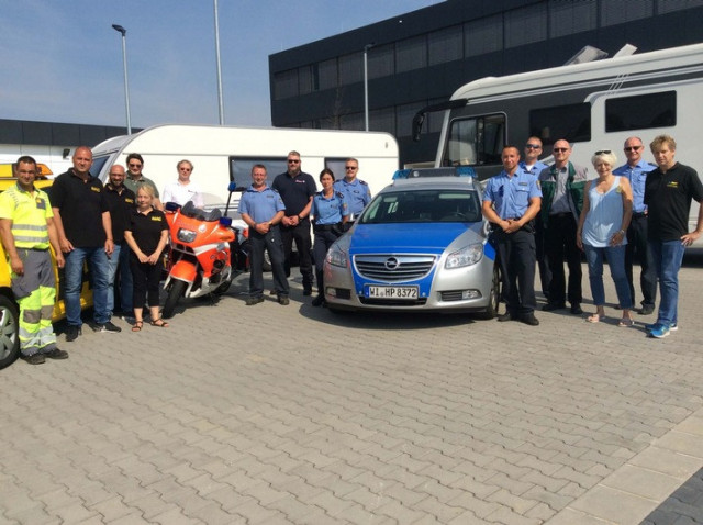 Die Crew des Aktionstages Safe Holiday in Butzbach