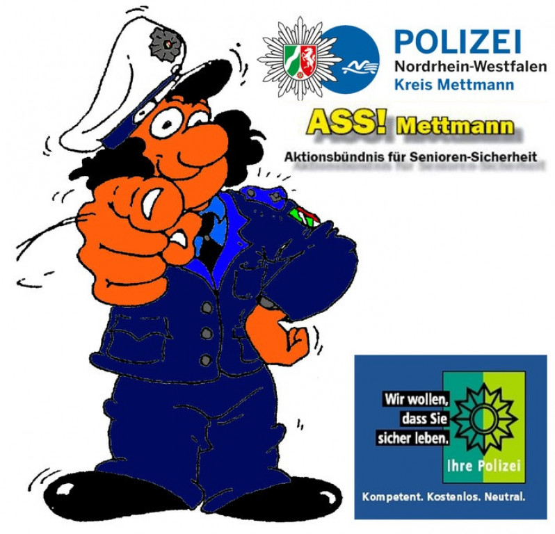 Symbolbild: Aktion Senioren-Sicherheit (ASS!) im Kreis Mettmann